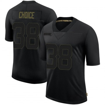 Men's Adam Choice Seattle Seahawks Nike Limited 2020 Salute To Service Jersey - Black