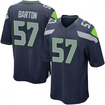 Men's Cody Barton Seattle Seahawks Nike Game Team Color Jersey - Navy