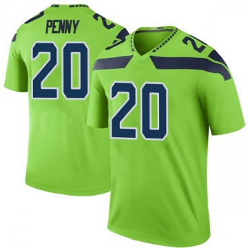 Men's Rashaad Penny Seattle Seahawks Nike Legend Color Rush Neon Jersey - Green