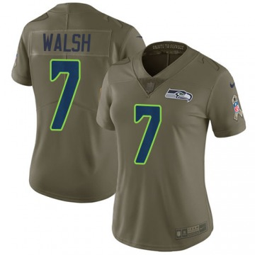 Women's Blair Walsh Seattle Seahawks Nike Limited Salute to Service Jersey - Green