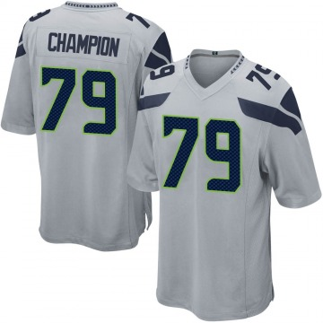 Youth Tommy Champion Seattle Seahawks Nike Game Alternate Jersey - Gray